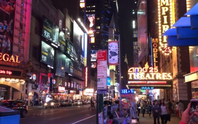 Hanging out on 42nd Street in NYC on a Saturday night
